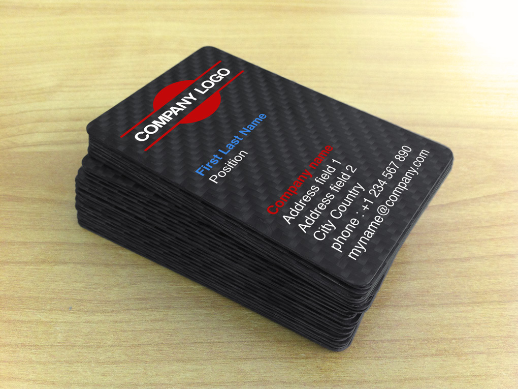 Exclusive Carbon Fiber Business Cards